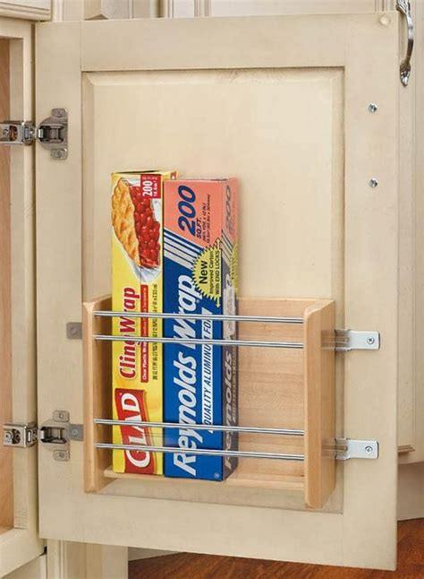 cabinet door kitchen wrap organizer save drawer space by placing a rack on the inside of any