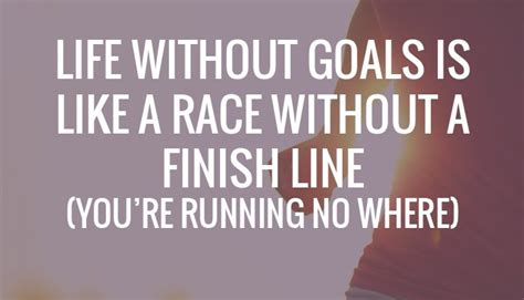 Living Without A by Without Goals Is Like A Race Without A Finish Line