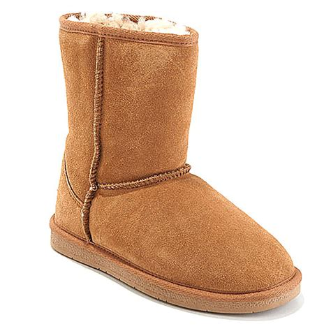 shearling boots tamarac suede shearling boots boscov s