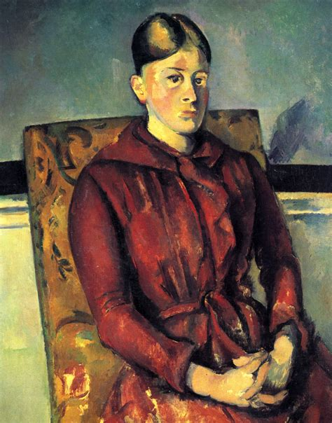 Madame Cezanne In A Armchair by Madame Cezanne With A Yellow Armchair Paul Cezanne