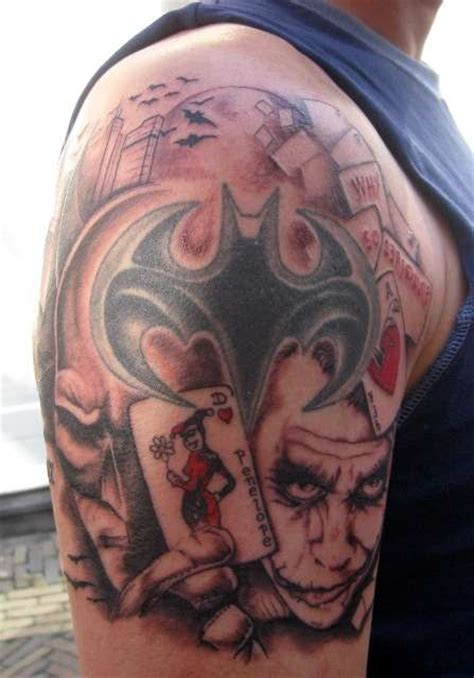 batman tattoo on shoulder 38 batman joker tattoos