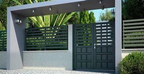 contoh pagar rumah minimalis modern model  gambar