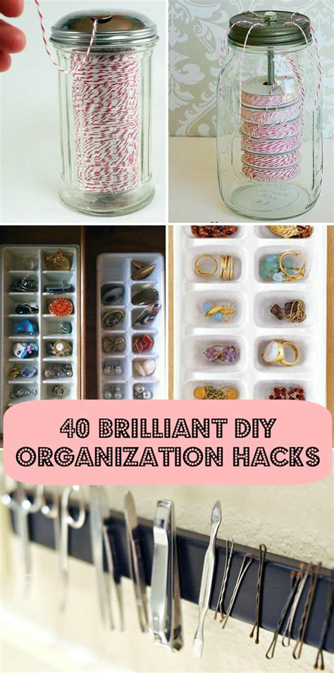 organizatoin hacks 40 brilliant diy organization hacks diy cozy home