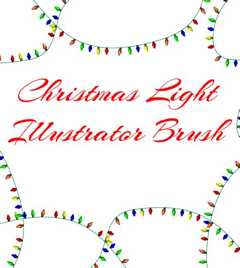 christmas lights adobe illustrator brush dollar graphx