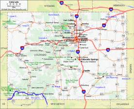 colorado map cities towns on the road agosto 2009