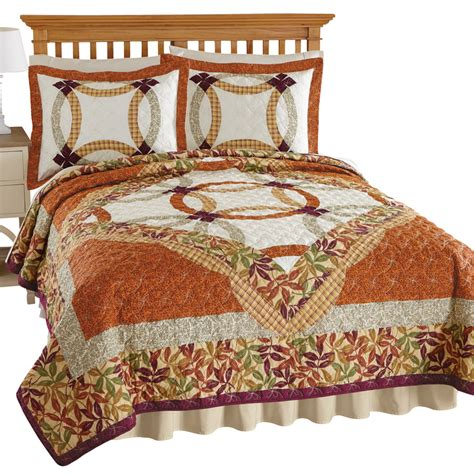 Quilt Collection by Dorset Wedding Ring Embroidered Quilt By Collections Etc