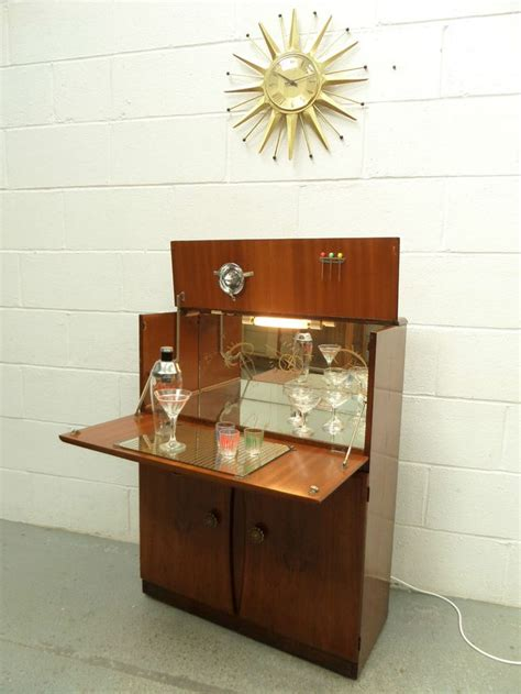 Home Bar Cabinet Uk 50s 60s Retro Vintage Turnidge Cocktail Home Drinks Cabinet Bar Unit Mad Era Home Vintage