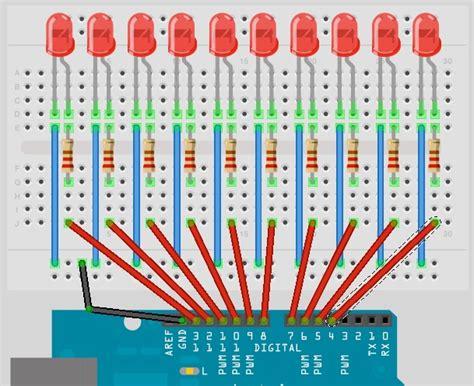 Led Running Light Or Chasing Light Effect 14core Com Arduino Led Light