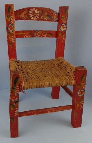 mexican painted chairs vintage primitive painted child s chair mexican