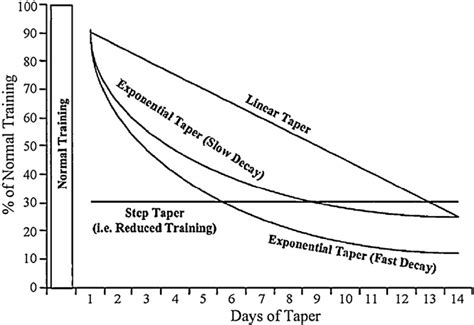 types of tapers tapering for competition whats the latest masters