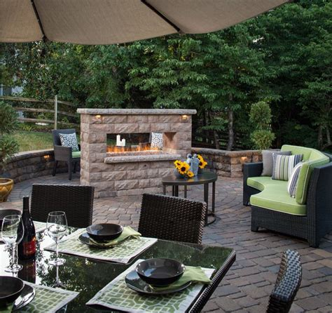 sided outdoor fireplace inspiration outdoor kitchens spaces