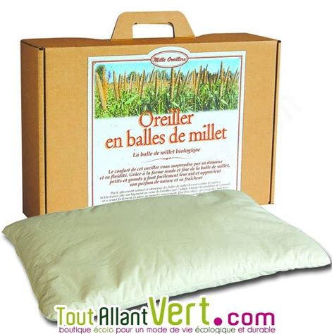 Oreillers Bio by Mille Oreillers Oreiller En Balles De Millet Naturel Et