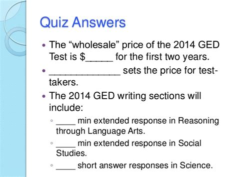 ged test sections 2014 ged test instructional strategies