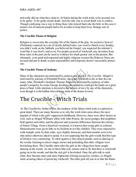 themes of guilt in the crucible the crucible