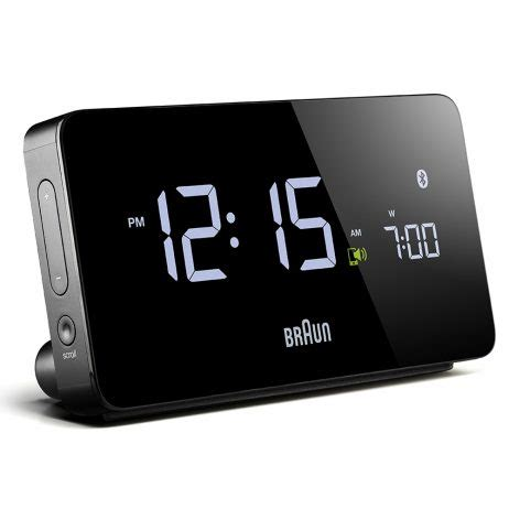 multi function smartphone compatible bluetooth alarm clock braun bn cbk clockshopscom