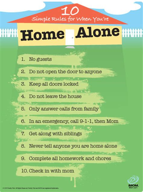 rules for home design story home alone rules imom