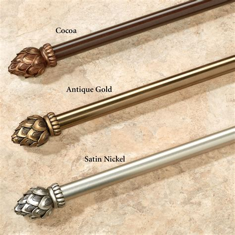 curtain and rod set bud single curtain rod and finial set 28 quot to 170 quot