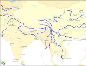 major rivers of map map showing the drainage basins of major asian rivers
