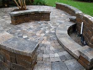 hardscape package 4 brick paver patio pergola firepit retaining wall enhance companies