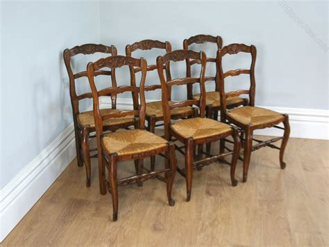 provincial ladder back chairs set of 6 carved oak ladder back chairs antiques atlas