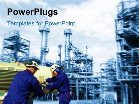 ppt templates for engineering presentation powerpoint template industrial plant in background with