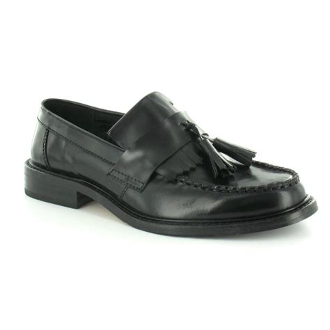 ikon tassel loafers ikon selecta boys leather tassel loafers black smart