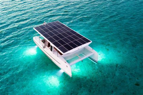 bluewater electric boats solar electric catamaran soel yachts