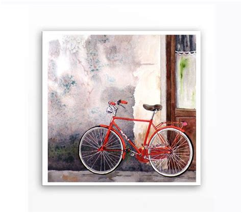 bike painting painting prints bike and watercolors on