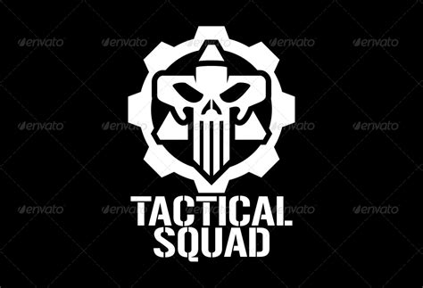 tactical squad skull logo template by matadewa graphicriver