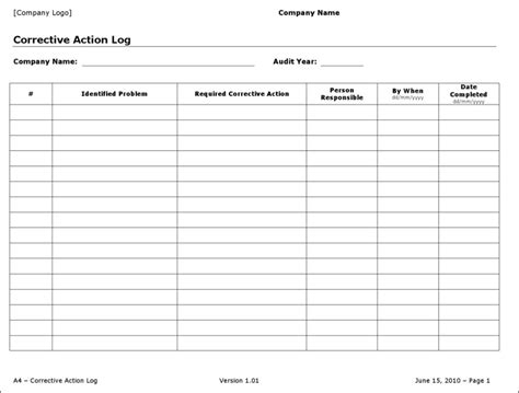 action log templates download free premium templates