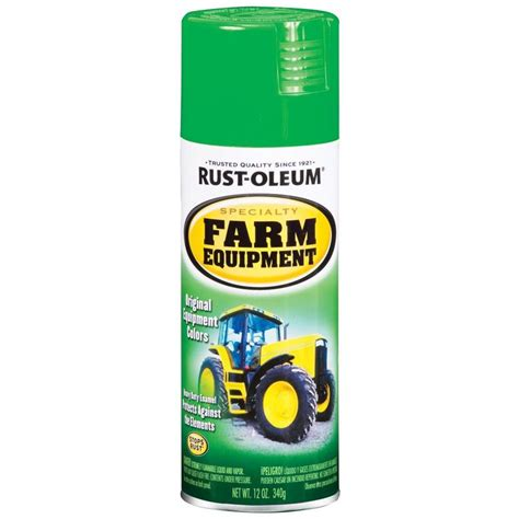 shop rust oleum 12 oz deere green gloss spray paint at lowes