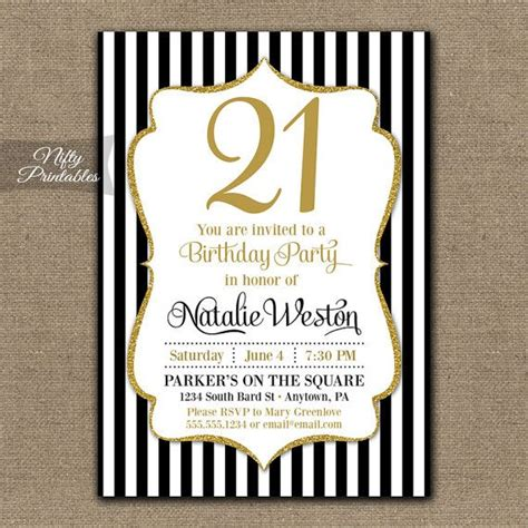 21st birthday templates free printable 21st birthday invitations wording