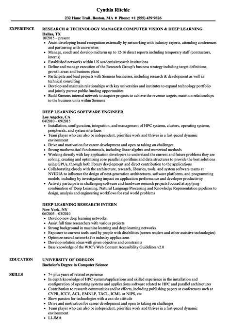 Machine Learning Resume by Machine Learning Resume Exle Template
