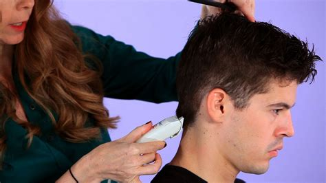 cutting boy hair with scissors how to cut a man s hair with clippers hair cutting youtube