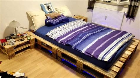 platform bed with lights underneath diy pallet ideas to be in your next to do list 99 pallets