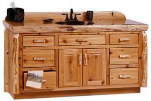 60 quot rustic log bathroom vanity custom log bathroom