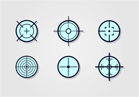printable laser targets laser tag target vector set download free vector art