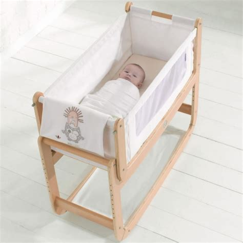 Snuzpod 2 Bedside Crib 3 In 1 And Natural Mattress White Baby Bedside Crib