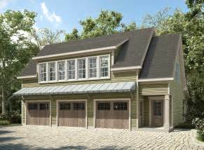 3 Bay Garage Plans Plan 36057dk 3 Bay Carriage House Plan With Shed Roof In