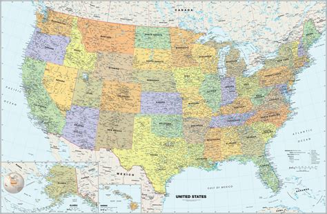 wall maps of the united states classic usa wall map