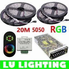 Lu Led Mata Besar Type 5050 60 20m smd 5050 rgb led light 60leds m led rope lights 18a wireless touch