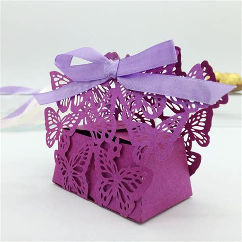 laser cut butterfly wedding candy box wedding favors gifts