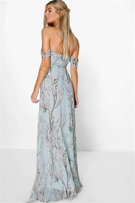 Flowery Dress Maxi floral the shoulder maxi dress