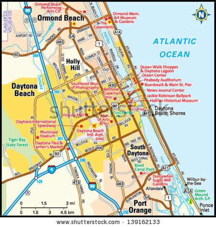daytona boardwalk map pictures to pin on