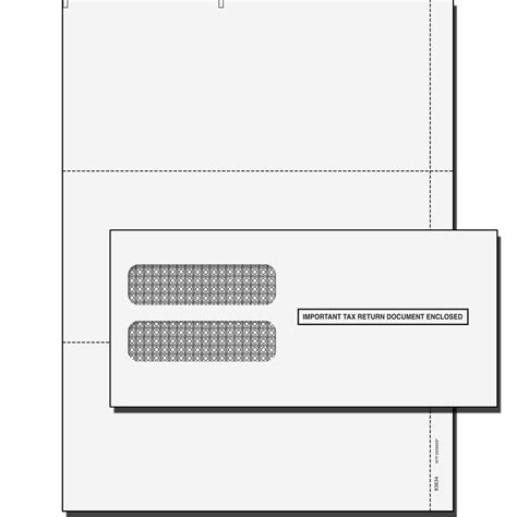 quickbooks    blank perforated tax forms  envelopes
