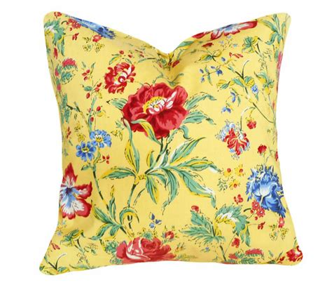 Bright Decorative Pillows Yellow Throw Pillows Bright Colorful Floral Pillow Covers