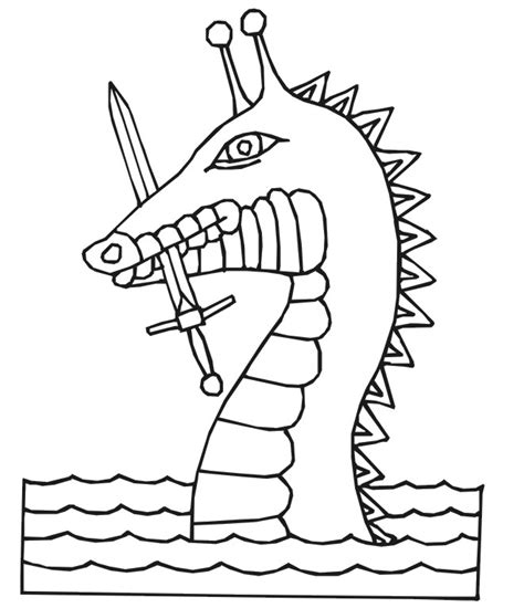 sea dragons coloring pages dragon coloring page sea dragon with a sword in its mouth