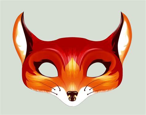 fox mask template happenstance how to make awesome felt masks