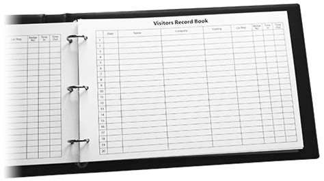 Confidential Visitor Management Systems Sign In Books Ncr Pads Visitor Register Book Template