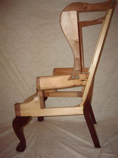 How To Build An Armchair by Chippendale Wing Chair Frame Finewoodworking
